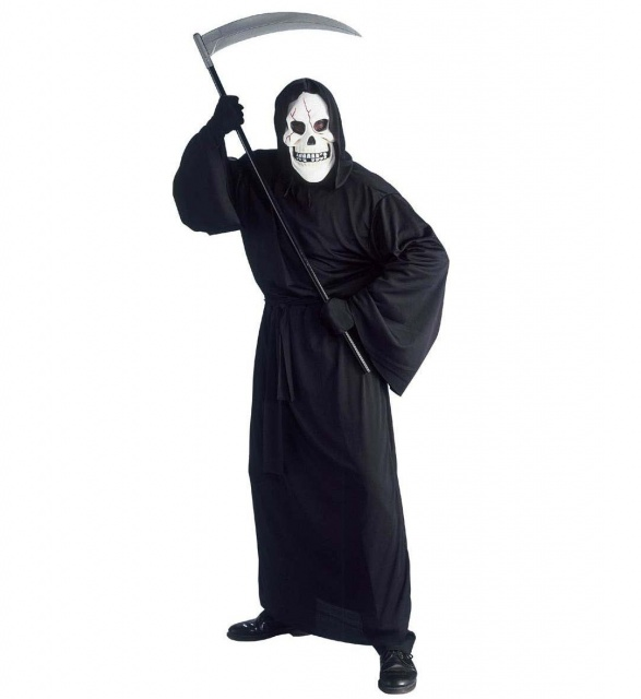 Halloween Kostuum Magere Hein.Halloween